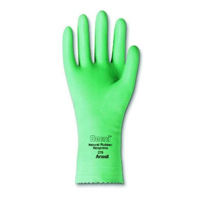 Omni Neoprene-Latex Gloves, Light Green, Size 8