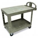 Flat Shelf Utility Cart, 2-Shelf, 25-7/8w x 43-7/8d x 33-1/3h, Beige