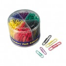 Plastic Coated Paper Clips, No. 2 Size, Assorted Colors