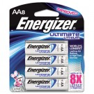 e? Lithium Batteries, AA, 8 Batteries/Pack
