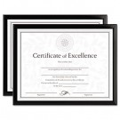 Value U-Channel Document Frames w/Certificates, Set of 2, 8-1/2 x 11, Black