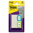 Preprinted File Tabs, 1 3/4 x 1 1/2, Numbers 1-12, 28/Pack