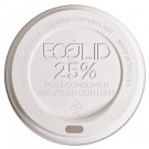 Eco-Lid 25% Recycled Content Hot Cup Lid, Fits 10-20 oz Cups