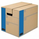 SmoothMove Moving Storage Box, Extra Strength, Small, 12w x 12d x 16h, Kraft
