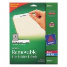 Removable Inkjet/Laser Filing Labels, 2/3 x 3-7/16, White, 750/Pack