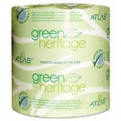 Green Heritage Bathroom Tissue, 2-Ply Sheets, White