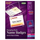Neck Hanging-Style Flexible Badge Holders, Top Load, 3 x 4, White, 100/Box