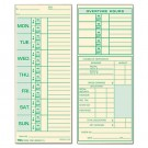 Time Card for Pyramid Model 331-10, Weekly, Two-Sided, 3-1/2 x 8-1/2, 500/Box