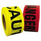 "Danger Barrier Tape, Red/Black, 3 in x 1000 ft, ""Danger"" Text"