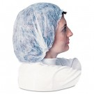Non-Woven Bouffant Caps, Polypropylene, Large, White