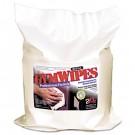 Antibacterial Gym Wipes, 6 x 8, White