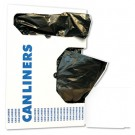 Low-Density Can Liners, 10gal, .4mil, 24w x 23h, Black, 25/Roll
