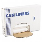 High-Density Can Liners, 30 x 35, 30-Gal, 10 Micron Equivalent, Clear, 25/Roll