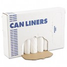 Extra Heavy-Grade Can Liners, 24 x 32, 16-Gallon, .40 Mil, White, 25/Roll