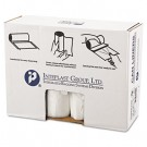 High-Density Can Liner, 38 x 60, 60-Gallon, 12 Micron, Clear, 25/Roll
