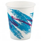 Jazz Hot Paper Cups, 10 oz., Polycoated, Jazz Design, 50/Bag