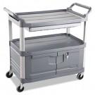 Xtra Instrument Cart, 300-lb Cap., 3 Shelves, 20w x 40 5/8d x 37 4/5h, Gray
