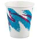 Jazz Hot Paper Cups, 6 oz., Polycoated, Jazz Design, 50/Bag