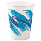Jazz Hot Paper Cups, 12 oz., Polycoated, Jazz Design, 50/Bag