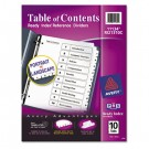 Ready Index Classic Tab Titles, 10-Tab, 1-10, Letter, Black/White, 10/Set