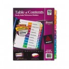 Ready Index Contemporary Table of Contents Divider, 1-10, Multi, Letter
