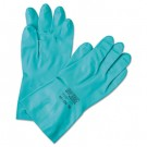 Sol-Vex Sandpatch-Grip Nitrile Gloves, Green, Size 7