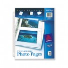 Photo Pages for Four 4 x 6 Horizontal Photos, 3-Hole Punched, 10/Pack