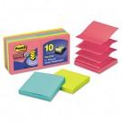 Pop-Up Notes, 3 x 3, Jewel Pop, 10 90-Sheet Pads/Pack