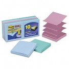 Super Sticky Pop-Up Notes, 3 x 3, Tropic Breeze, 10 90-Sheet Pads/Pack
