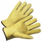 4000 Series Pigskin Leather Driver Gloves, Beige, Extra Large