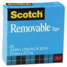 "Removable Tape, 3/4"" x 1296"", 1"" Core"