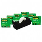 """Magic Tape Value Pack with FREE C38 Dispenser, 3/4"""" x 1000"""" Tape, 6/Pack"""