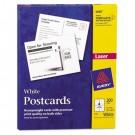Avery Laser Postcards, 5 1/2 x 4 1/4, White, 200/Box