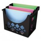 Recycled Desktop File Holder, Plastic, 13 1/4 x 8 5/8 x 10 3/4, Black