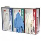 Clear Plexiglas Glove Dispenser, Three-Box, 18w x 3-3/4d x 10h