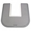 Disposable Toilet Floor Mat, Nonslip, Fresh Blast Scent, 23 x 21-5/8, Black