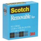 "Removable Tape, 1/2"" x 1296"", 1"" Core"