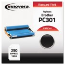 PC301 Compatible, Remanufactured, PC301 Thermal Transfer, 250 Page-Yield, Black