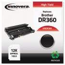 DR360 Compatible, Remanufactured, DR360 Drum Unit, 12000 Page-Yield, Black