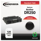 DR250 Compatible, Remanufactured, DR250 Drum Cartridge, 12000 Page-Yield, Black