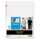 Reinforced Filler Paper, 20-lb., College-Ruled, 11 x 8-1/2, White, 100 Sheets/Pk