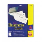 Laser Business Cards, 2 x 3 1/2, Ivory, 10 Cards/Sheet, 250/Pack