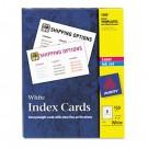 Laser/Inkjet Unruled Index Cards, 3 x 5, White, 150/Box
