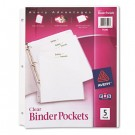 Ring Binder Polypropylene Pockets, 8-1/2 x 11, Clear, 5 Pockets/Pack