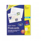 Inkjet-Compatible Postcards, 5-1/2 x 4-1/4, Four per Sheet, 200 Cards/Box