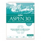 ASPEN 30% Recycled Office Paper, 3-Hole, 92 Bright, 20lb, Ltr, White, 5000/Ctn