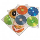 Two-Sided CD Storage Sleeves for Ring Binder