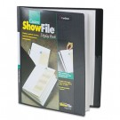 ShowFile Display Book w/Custom Cover Pocket, 12 Letter-Size Sleeves, Black