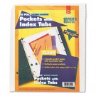 Ring Binder Divider Pockets With Index Tabs, 8-1/2 x 11, Clear, 5/Pack