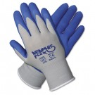 Memphis Flex Seamless Nylon Knit Gloves, Extra Large, Blue/Gray, Pair